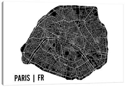 Paris Map Canvas Art Print