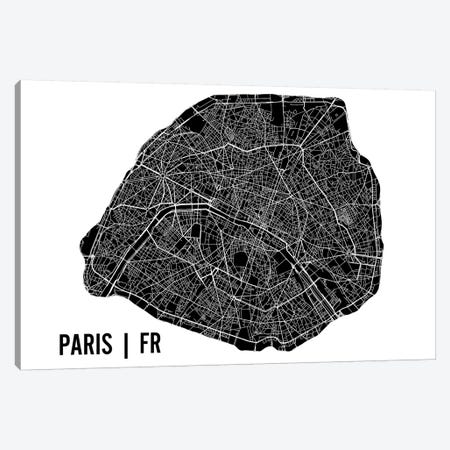Paris Map Canvas Print #MCP48} by Mr. City Printing Canvas Art