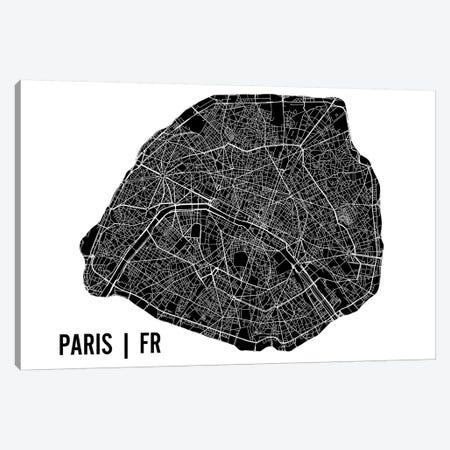 Paris Map Canvas Print #MCP48} by Mr. City Printing Canvas Art