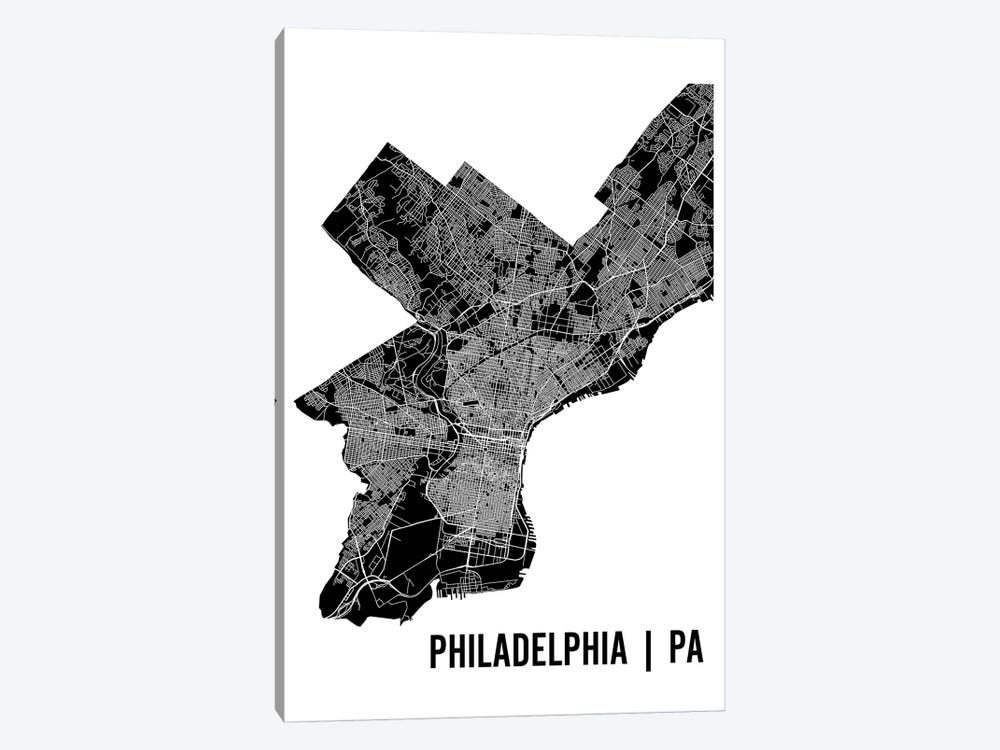 Philadelphia Map by Mr. City Printing 1-piece Art Print