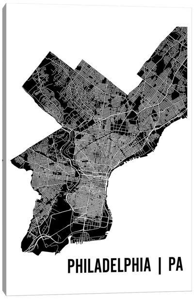 Philadelphia Map Canvas Art Print
