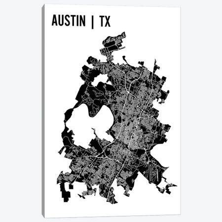 Austin Map Canvas Print #MCP4} by Mr. City Printing Canvas Print