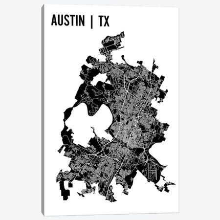 Austin Map Canvas Print #MCP4} by Mr. City Printing Canvas Print