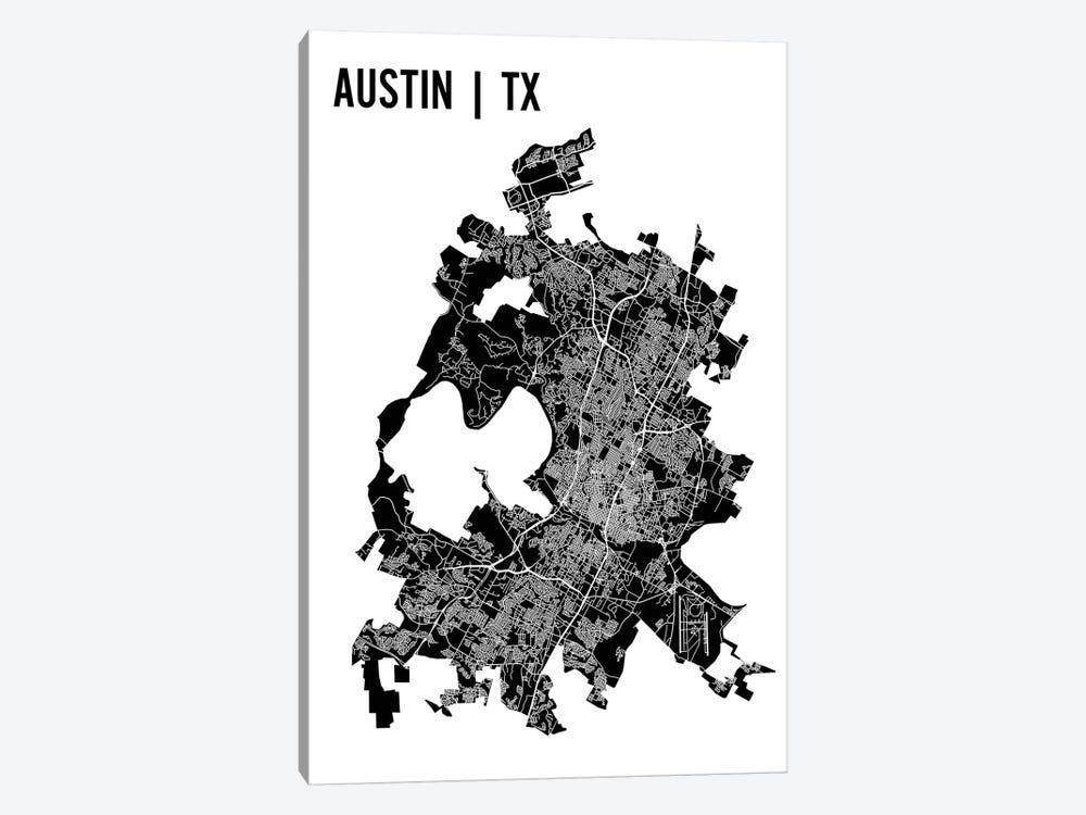 Austin Map by Mr. City Printing 1-piece Canvas Art