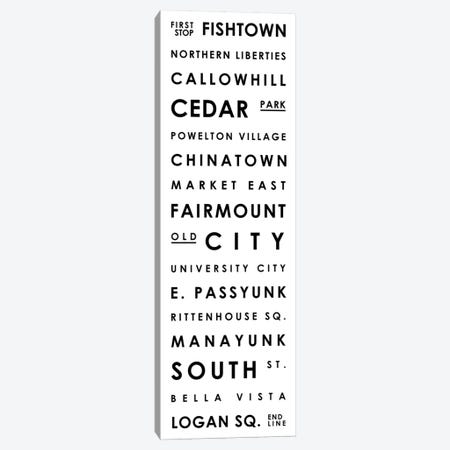 Philadelphia Typographical Neighborhoods Canvas Print #MCP50} by Mr. City Printing Canvas Art Print