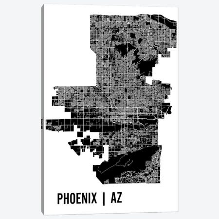Phoenix Map Canvas Print #MCP51} by Mr. City Printing Canvas Art Print