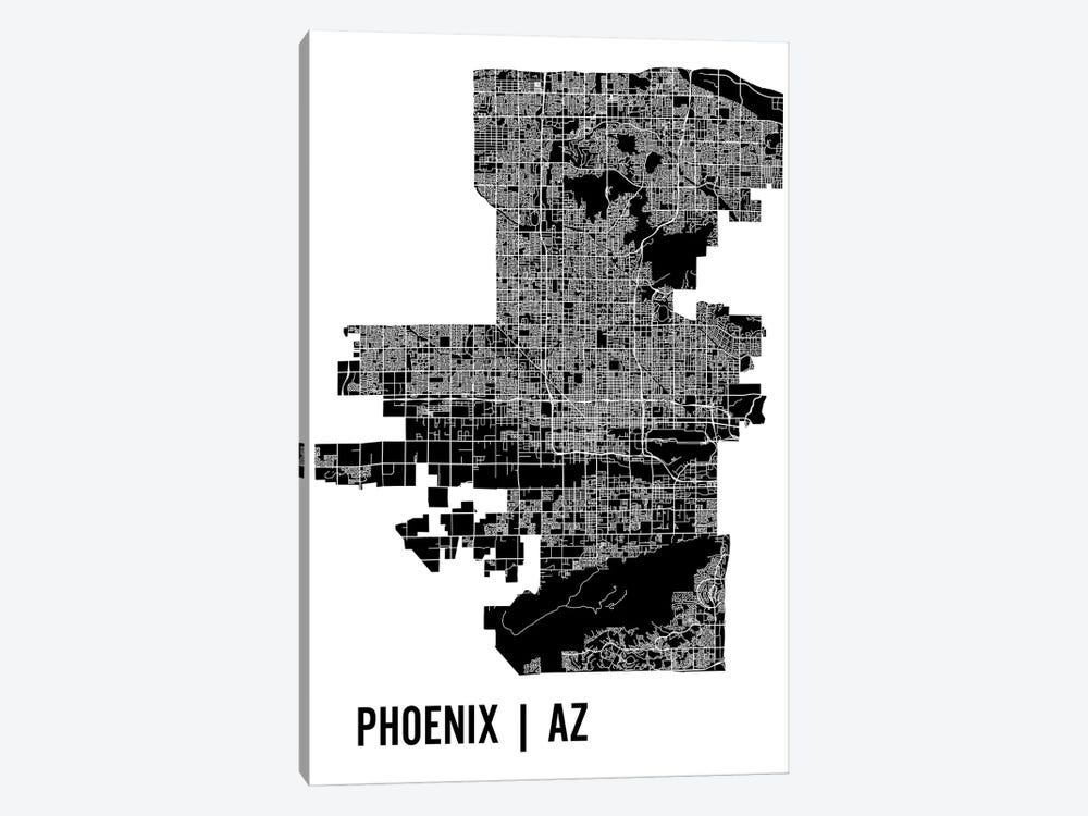 Phoenix Map by Mr. City Printing 1-piece Canvas Wall Art