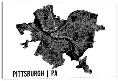 Pittsburgh Map Canvas Art Print
