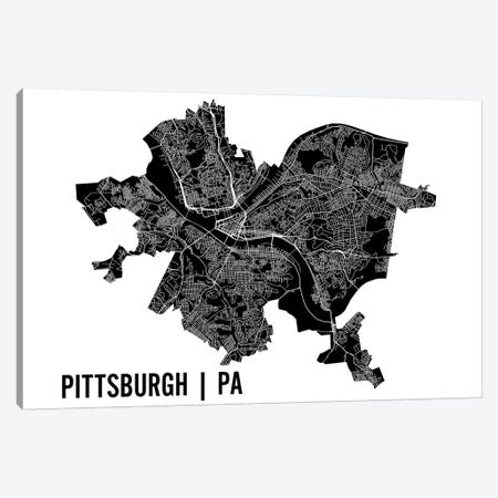 Pittsburgh Map 3-Piece Canvas #MCP52} by Mr. City Printing Art Print