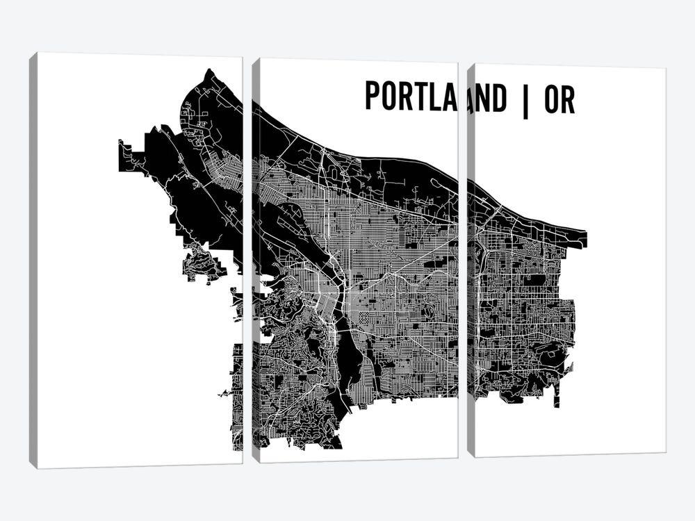 Portland Map by Mr. City Printing 3-piece Canvas Art