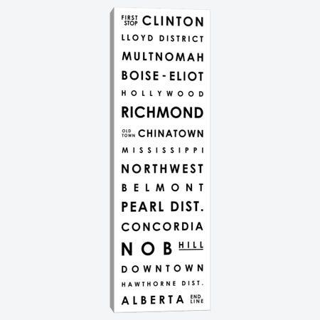 Portland Typographical Neighborhoods Canvas Print #MCP54} by Mr. City Printing Canvas Art
