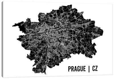 Prague Map Canvas Art Print
