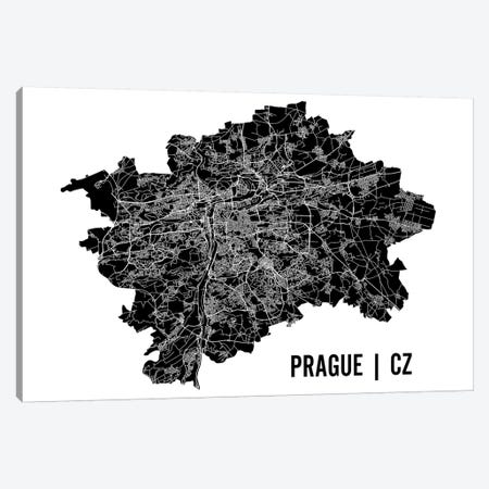 Prague Map Canvas Print #MCP55} by Mr. City Printing Canvas Wall Art