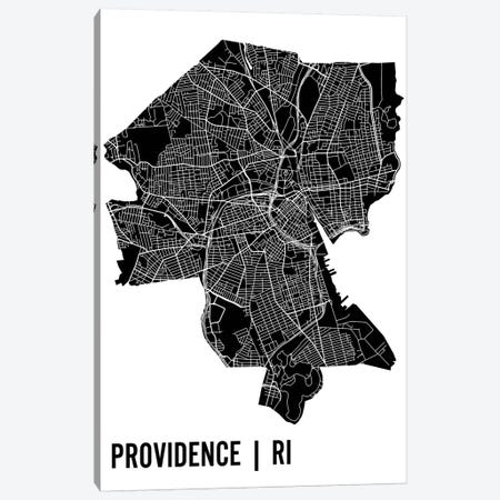 Providence Map Canvas Print #MCP56} by Mr. City Printing Canvas Art
