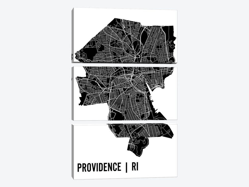 Providence Map by Mr. City Printing 3-piece Art Print