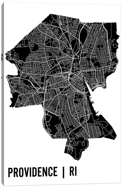 Providence Map Canvas Art Print