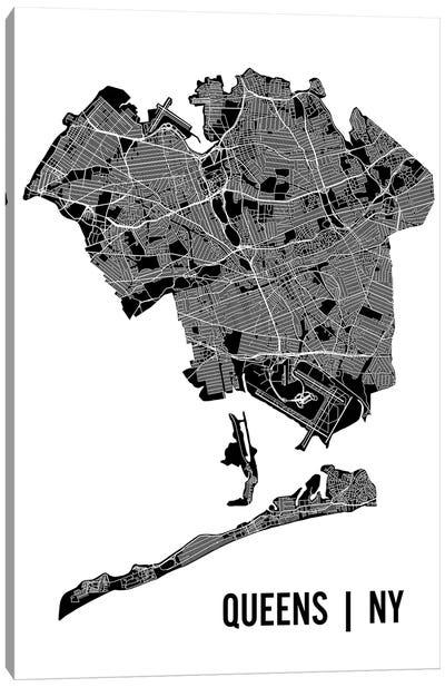 Queens Map Canvas Art Print