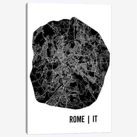 Rome Map Canvas Print #MCP58} by Mr. City Printing Canvas Art Print