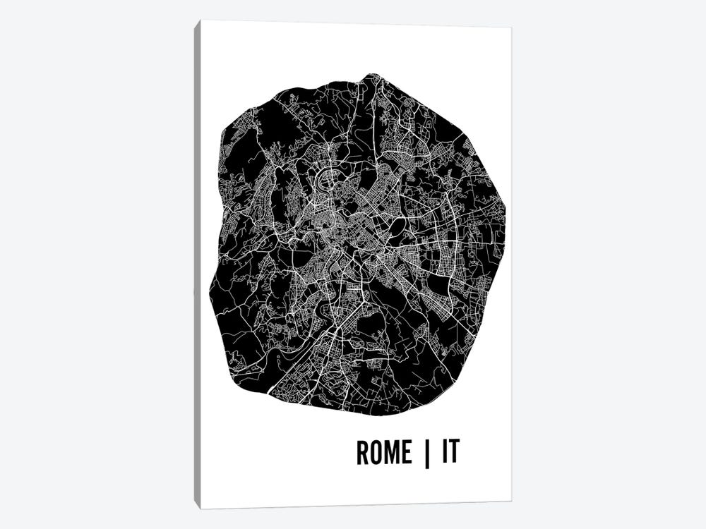 Rome Map by Mr. City Printing 1-piece Art Print
