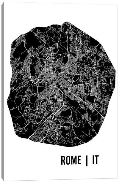 Rome Map Canvas Art Print