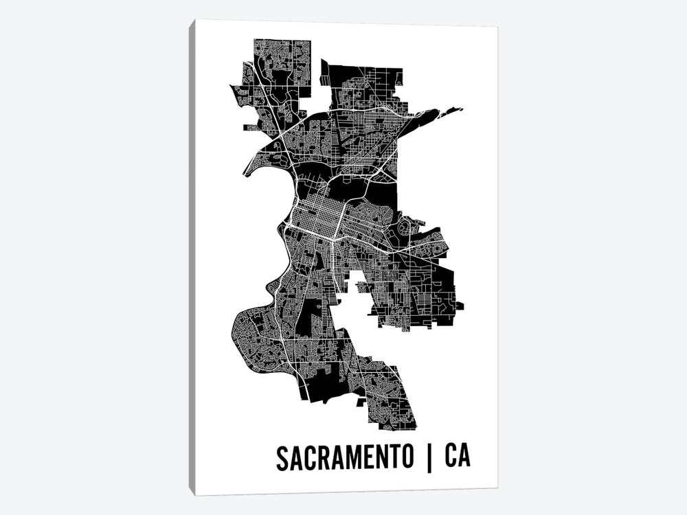 Sacramento Map by Mr. City Printing 1-piece Canvas Wall Art