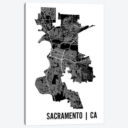 Sacramento Map Canvas Print #MCP59} by Mr. City Printing Canvas Print