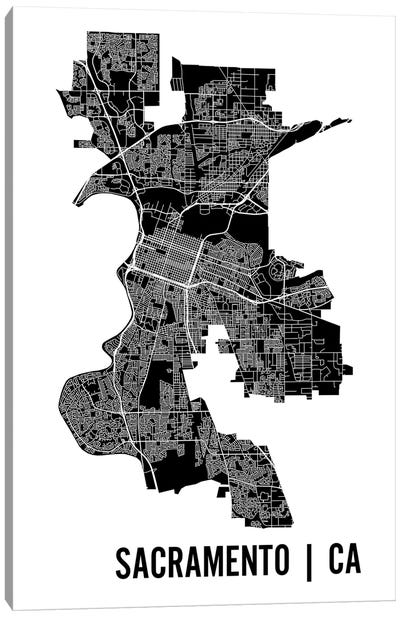 Sacramento Map Canvas Art Print