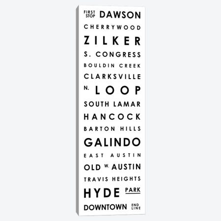 Austin Typographical Neighborhoods Canvas Print #MCP5} by Mr. City Printing Art Print