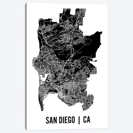 San Diego Map Canvas Print #MCP60} by Mr. City Printing Canvas Art