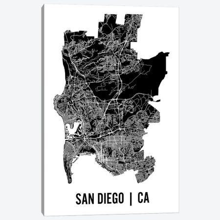 San Diego Map Canvas Print #MCP60} by Mr. City Printing Canvas Art