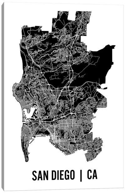 San Diego Map Canvas Art Print