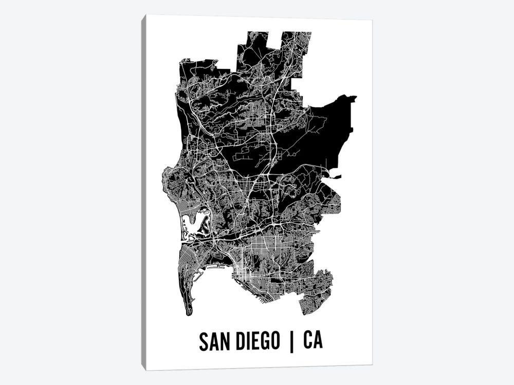 San Diego Map by Mr. City Printing 1-piece Canvas Art