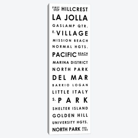 San Diego Typographical Neighborhoods Canvas Print #MCP61} by Mr. City Printing Canvas Art