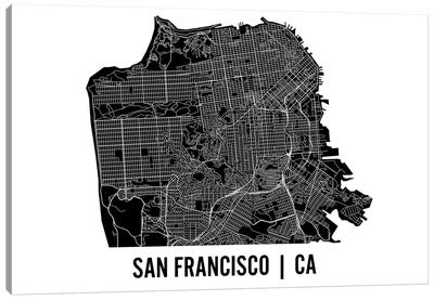 San Francisco Map Canvas Art Print