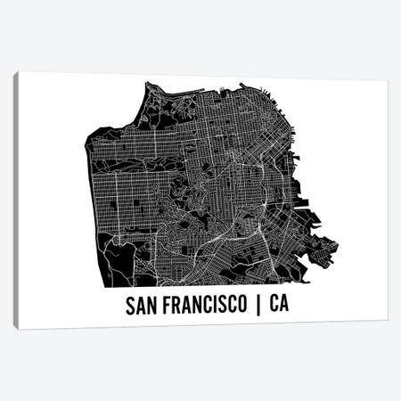 San Francisco Map Canvas Print #MCP62} by Mr. City Printing Canvas Artwork