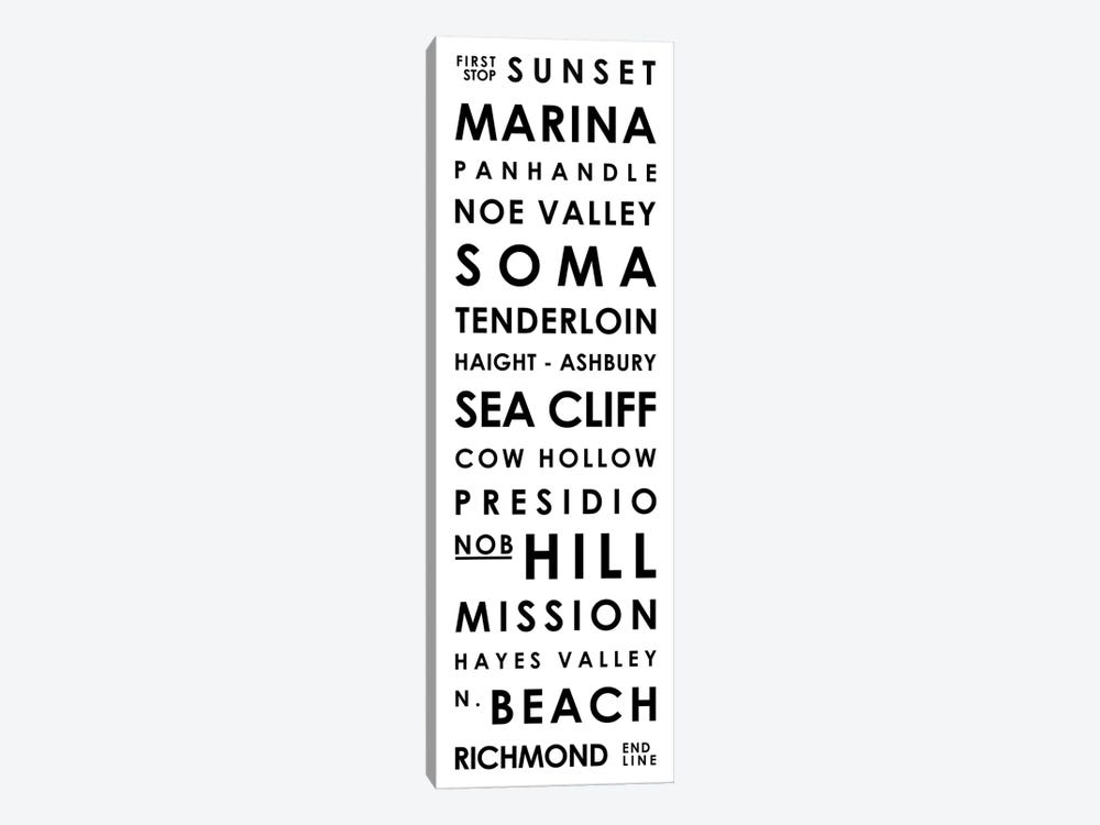 San Francisco Typographical Neighborhoods by Mr. City Printing 1-piece Art Print