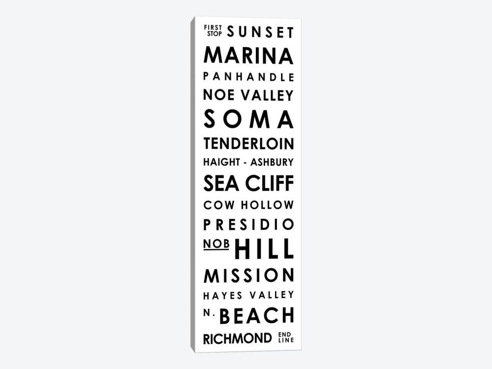 San Francisco Typographical Neighborhoods by Mr. City Printing 1-piece Art Print