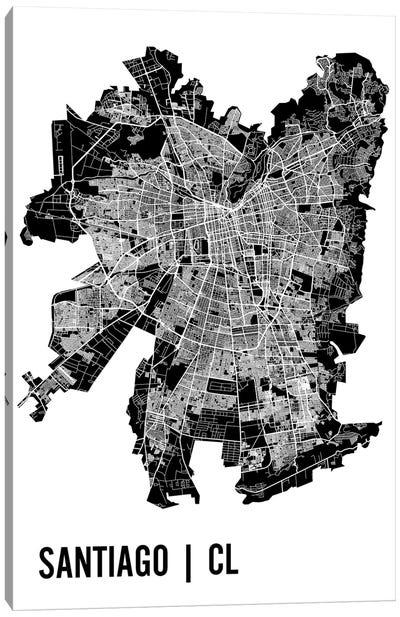 Santiago Map Canvas Art Print