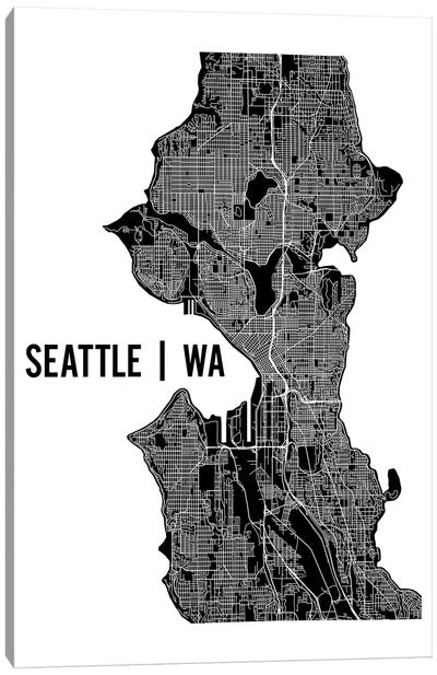 Seattle Map Canvas Art Print