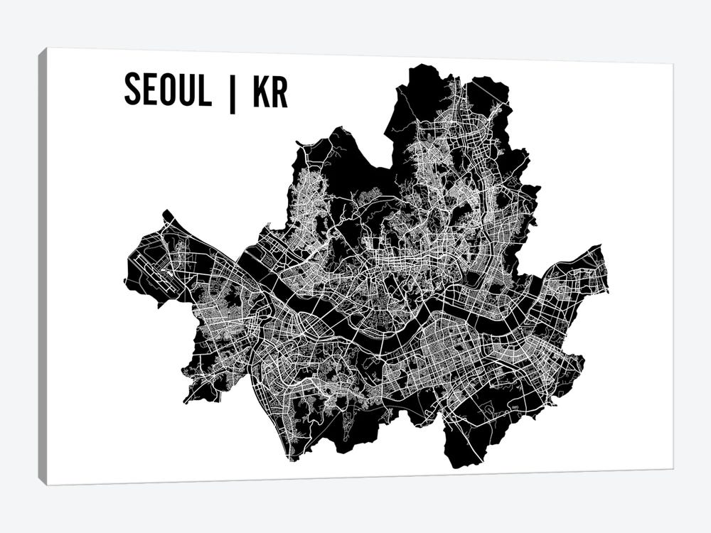 Seoul Map 1-piece Art Print