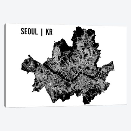 Seoul Map Canvas Print #MCP67} by Mr. City Printing Art Print