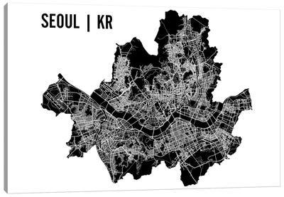Seoul Map Canvas Art Print