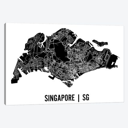 Singapore Map 3-Piece Canvas #MCP68} by Mr. City Printing Canvas Artwork