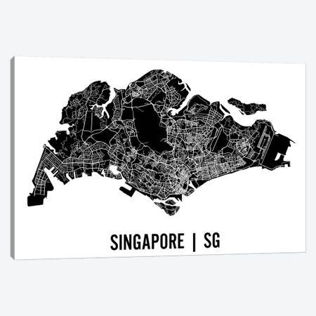 Singapore Map Canvas Print #MCP68} by Mr. City Printing Canvas Artwork