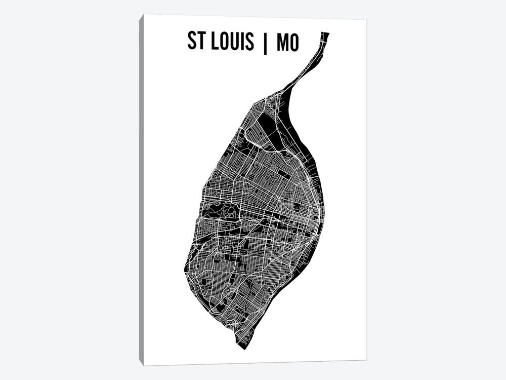 St. Louis Map by Mr. City Printing 1-piece Art Print