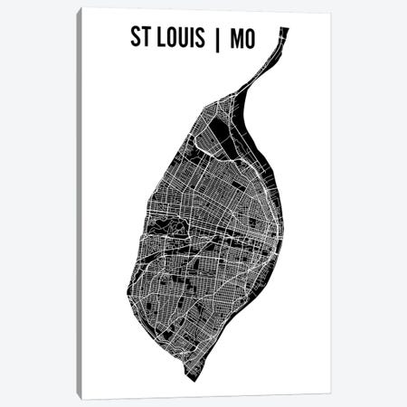 St. Louis Map Canvas Print #MCP69} by Mr. City Printing Canvas Wall Art