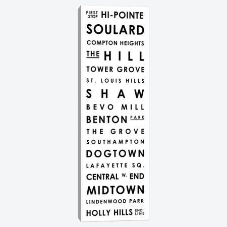St. Louis Typographical Neighborhoods Canvas Print #MCP70} by Mr. City Printing Art Print
