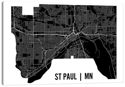 St. Paul Map Canvas Art Print