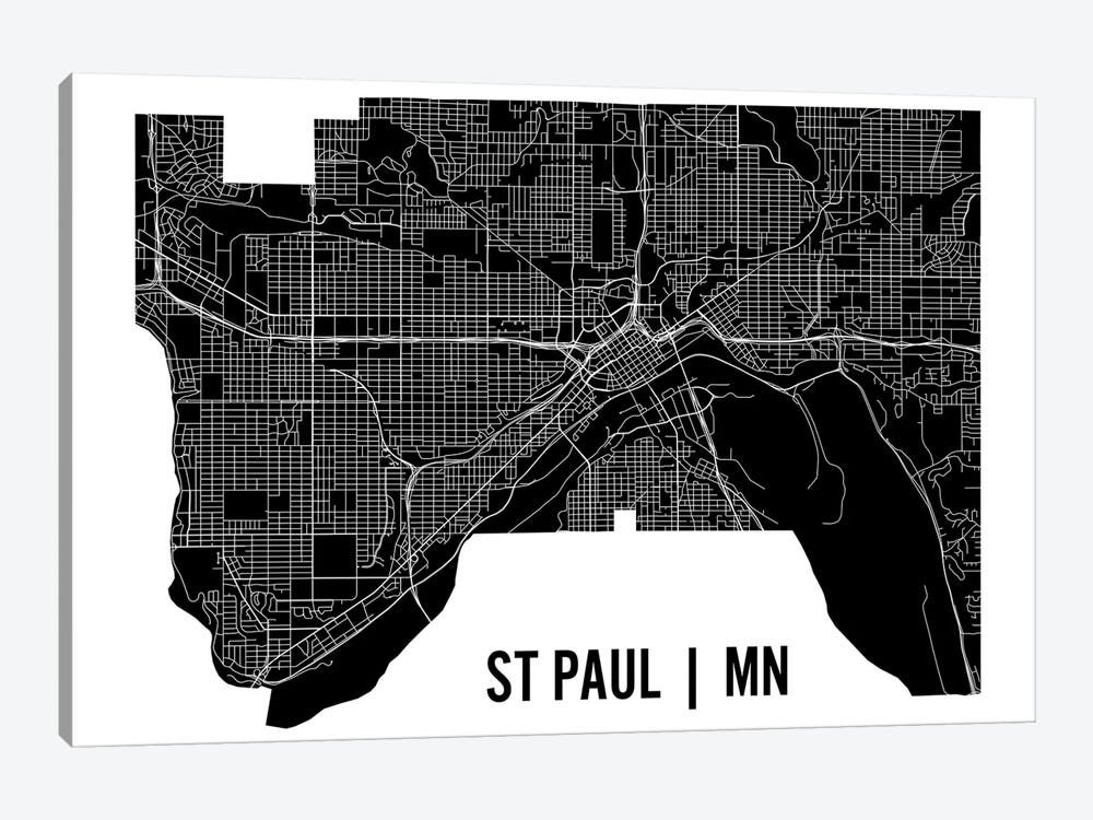 St. Paul Map by Mr. City Printing 1-piece Canvas Art