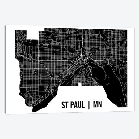 St. Paul Map Canvas Print #MCP71} by Mr. City Printing Canvas Art Print